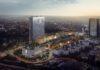 Rendering des Tadao Ando Campus & Tower. Bild: Hyatt Hotels Corporation