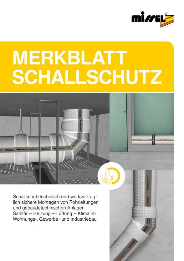 """""""Merkblatt Schallschutz"""" der Kolektor Missel Insulations GmbH"""